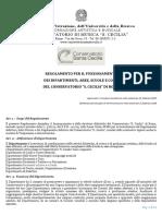 Regolamento Dipartimenti Aree Scuole e Corsi