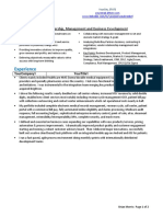 Resume Template for a HealthIT Strategy Business Development Product Management Pro