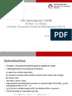 investment capm