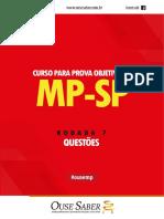 Caderno de Questões -Rodada 07 - MP-SP