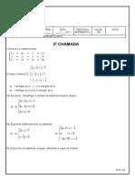 2a Chamada_Sistemas Lineares