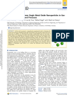 Contact Forces between Single Metal Oxide Nanoparticles in Gas- Phase Applications and Processes