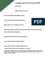 Programa de Inauguración Del Ciclo Escolar 2018 Imprimir