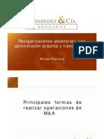 Reorganizacion de Sociedades - Alfredo Filomeno