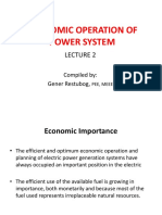 Economic Oper of Power System Lec2