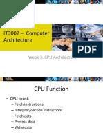 Week 3 - CPU Architecture