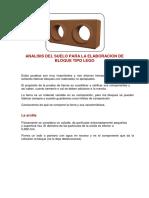 2.- Analisis Del Suelo Para Elaboracion de Bloque Tipo Lego