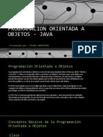 Programacion Orientada a Objetos - Java