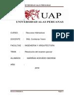 Resolucion Parcial HIDRAULICA George Mariñas
