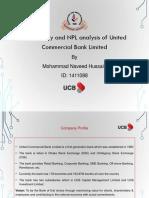 Profitability NPL Analysis of United Commercial Bank