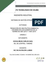Política Ambiental - Carpintería Ochoa. (1)