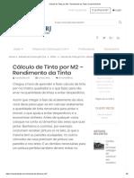 Cálculo de Tinta Por M2 - Rendimento Da Tinta _ ConstruFácil RJ