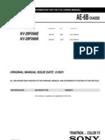 Service Manual Sony Tv Kv-29Fx66E Kv-29Fx66E Chassis Ae-6B