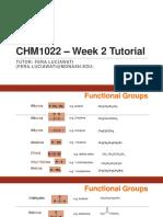 CHM1022 – Week 2 Tutorial