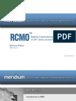 Meridium RCMO SAP Road to Reliabilty