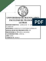 Latín IV 2019 - Pégolo