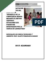 Plan de Capacitacion Para Docentes Del Area de Cta en El Enfoque de Indagacion Cientifica en Laboratorio