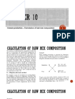 Chapter 10 - Cement Production – Calculation of Raw Mix Composition