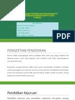 Menjelaskan Pengertian Pendidikan Pti Dan Berbagai Pendidikan Pti