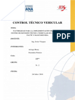 Informe de Factibilidad Centro de Revision Tecnica Vehicular