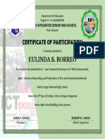 Sample Training Certificate