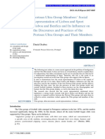 [Physical Culture and Sport. Studies and Research] Portoan Ultra Group Members Social Representation of Lisbon and Sport Lisboa and Benfica and Its Influence on the Discourses and Practices of the Portoan Ultra Groups and Their