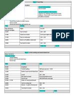 itinerary english