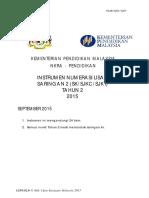 Instrumen Numerasi Lisan Matematik Saringan 2 (Sksjkcsjkt) Tahun 2 2015