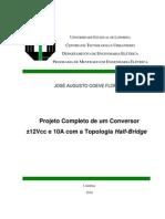 Projeto Completo de um Conversor ±12Vcc e 10A com a Topologia Half-Bridge