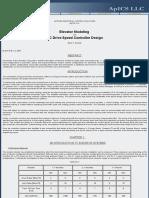 Elevator & Hoist Modeling, Simulation & Speed Control