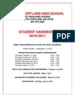 2010-11 SPHS Handbook