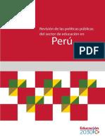 Revisión de las políticas públicas del sector de educación en Perú.pdf