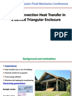 Natural Convection Heat Transfer in a Baffled Triangular