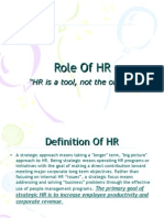 Strategic HR Roles