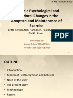 Health cognitions and Behavioral changes