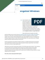 Cara Mudah Mengatasi Windows 10 Yang Lemot