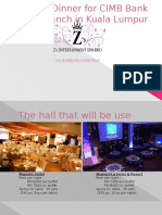 Annual Dinner for Z's Entertainment Sdn Bhd (example)
