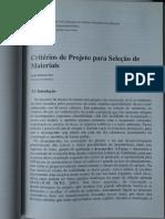 05 - Critérios de Projeto Para a Seleção de Materiais