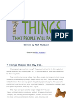 7 Things People Will Pay For