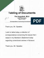 TD 139 5(2) en Correspondence Concerning Correctional Centres