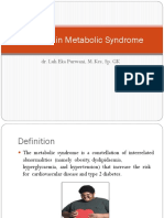 Nutrition in Metabolic Syndrome