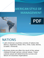 Latin American Style of Management