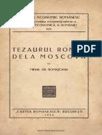 Tezaurul Roman de la Moscova de Mihail Gr. Romascanu - Investigatia din 1934