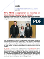 Debate en la Opinión PP-PSOE-BNG