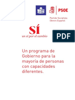 Programa Electoral PSOE Lectura Facil 2016