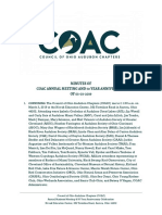 Minutes of Council of Ohio Audubon Chapters (COAC) Meeting of 03-03-2019