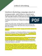 Marlboro Unethical Advertising.docx