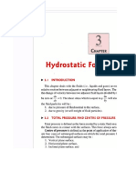 Hydrostatic Forces on Surfaces