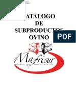 CATALOGO subproductos ovino.doc