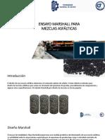 Diseño Marshall para concreto asfáltico